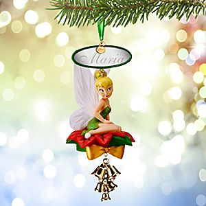 Tinker Bell Light Up Sketchbook Ornament - Personalizable