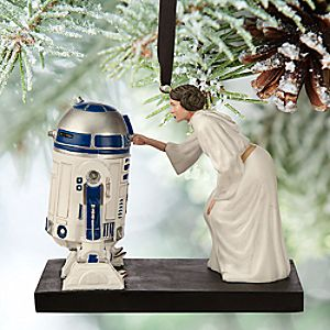 Princess Leia and R2-D2 Sketchbook Ornament - Star Wars