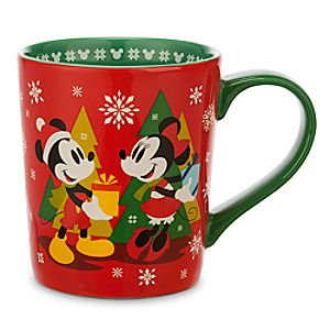 Mickey and Minnie Mouse Holiday Mug
