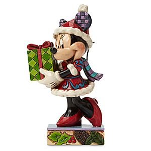 Minnie Mouse A Holiday Gift For You Figure by Jim Shore