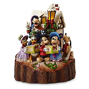 Mickey Mouse and Friends Holiday Harmony Light-Up Figure by Jim Shore