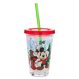 Mickey Mouse and Friends Holiday Tumbler with Straw - Small