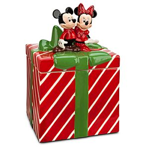 Mickey and Minnie Mouse Holiday Cookie Jar