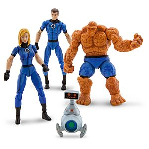 Fantastic Four Action Figure Set -- 4-Pc.