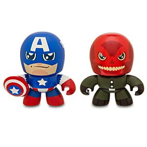 Marvel Mini Muggs Captain America and Red Skull Figures by Hasbro -- 2-Pc.