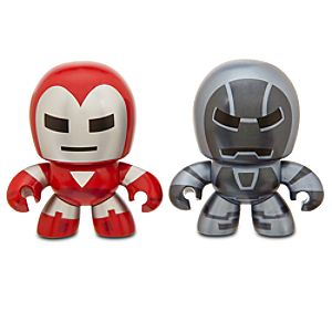 Disney Marvel Mini Muggs Silver Centurion and Iron Monger Figures by
