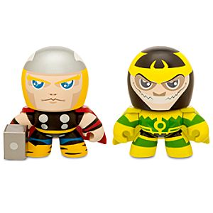 Marvel Mini Muggs Thor and Loki Figures by Hasbro -- 2-Pc.