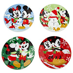 Share the Magic Minnie and Mickey Mouse Dessert Plates -- 4-Pc.