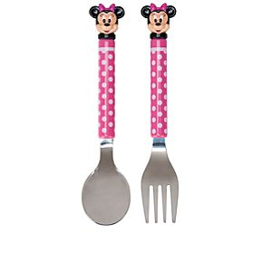 Polka Dot Minnie Mouse Flatware Set -- 2-Pc.