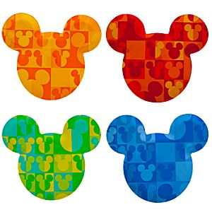 Summer Brights Mickey Mouse Plate Set -- 4-Pc.