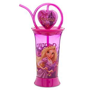 Tangled Rapunzel Spinning Tumbler with Straw