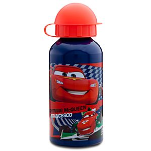 Aluminum Cars 2 Lightning McQueen and Francesco Water Bottle -- Small
