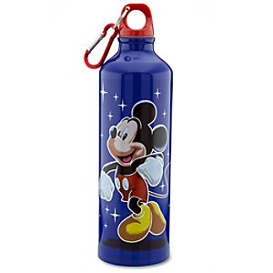 Aluminum Disney Store 25th Anniversary Mickey Mouse Water Bottle