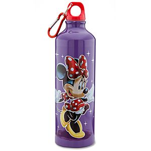 Aluminum Disney Store 25th Anniversary Minnie Mouse Water Bottle