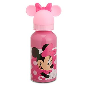 Aluminum Minnie Mouse Water Bottle -- Small