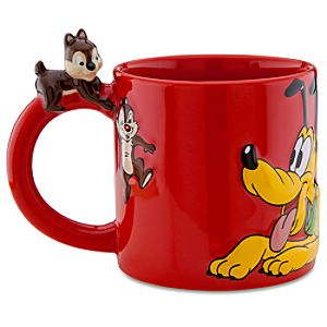 Disney Store 25th Anniversary Chip an Dale with Pluto Mug