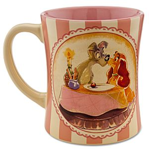 Disney Store 25th Anniversary Lady and the Tramp Mug