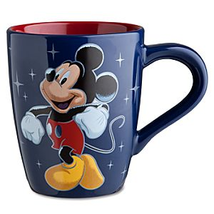 Disney Store 25th Anniversary Dancing Mickey Mouse Mug