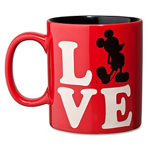 Silhouette LOVE Mickey Mouse Mug