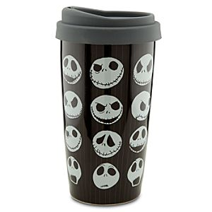 Ceramic Jack Skellington Travel Tumbler