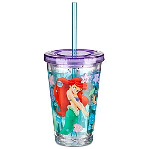 The Little Mermaid Ariel Tumbler With Straw -- Small