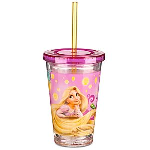 Tangled Rapunzel Tumbler with Straw -- Small