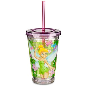 Tinker Bell Tumbler with Straw -- Small