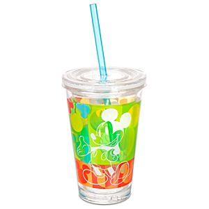 Summer Brights Mickey Mouse Tumbler with Straw -- Small