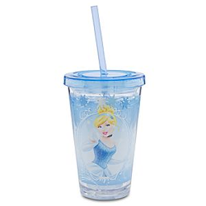 Cinderella Tumbler With Straw -- Small