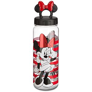 Striped Minnie Mouse Water Bottle
