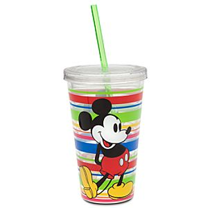 Mickey Mouse Tumbler with Straw - Summer Fun - Multicolor