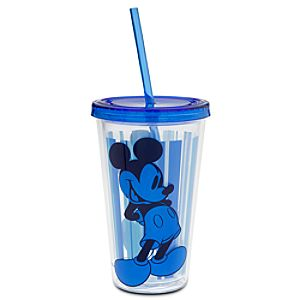 Mickey Mouse Tumbler with Straw - Summer Fun - Blue