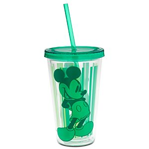 Mickey Mouse Tumbler with Straw - Summer Fun - Green