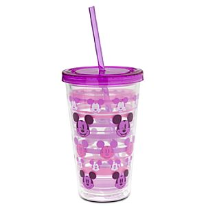 Mickey Mouse Tumbler with Straw - Summer Fun - Purple