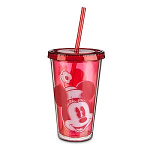 Minnie Mouse Portrait Tumbler with Straw