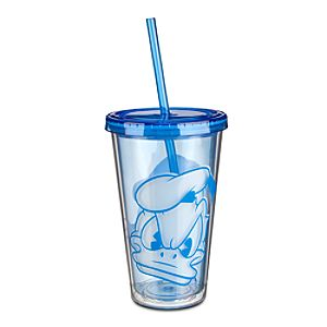 Donald Duck Portrait Tumbler with Straw