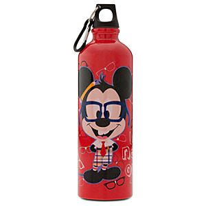 Aluminum Nerd Minnie and Mickey Mouse Water Bottle