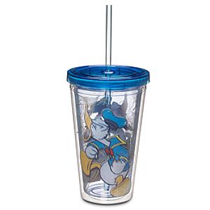 Donald Duck Tumbler with Straw