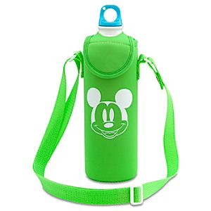 Summer Brights Mickey Mouse Aluminum Water Bottle with Neoprene Cover -- Green