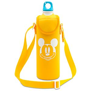 Summer Brights Mickey Mouse Aluminum Water Bottle with Neoprene Cover -- Yellow
