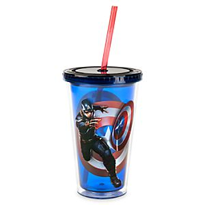 Captain America Tumbler with Straw
