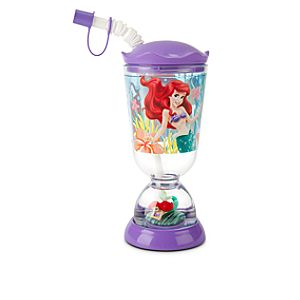 Ariel Snowglobe Tumbler with Straw