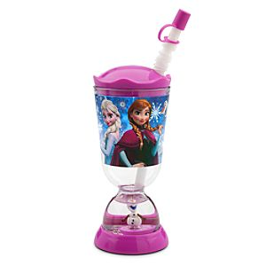 Frozen Snowglobe Tumbler with Straw