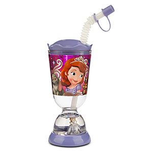 Sofia the First Snowglobe Tumbler with Straw