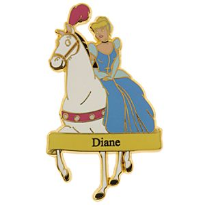 Cinderella Personalized Pin