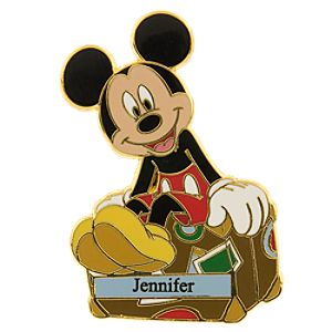 Mickey and Trunk Personalized Pin