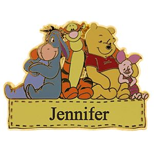 Pooh & Friends Personalized Pin