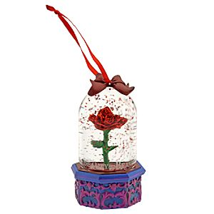 Beauty and the Beast Enchanted Rose Mini Snow Globe