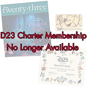 D23 Charter Membership - Are you 23?