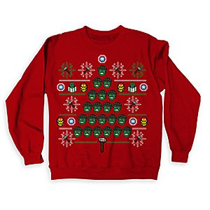 Marvels Avengers Ugly Holiday Sweatshirt for Adults - Limited Release